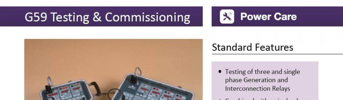 G59 Testing & Commissioning Data Sheet
