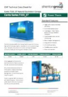 Cento T150_ST Natural Gas Indoor Canopy Datasheet