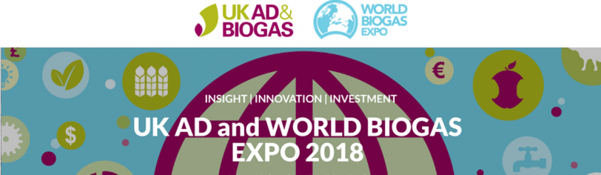 Igniting Biogas Growth at UK AD and World Biogas 2018