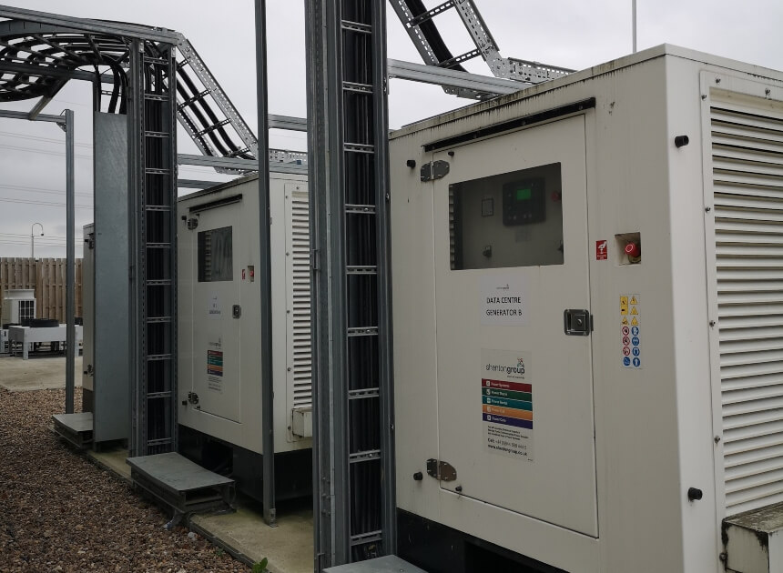 Backup Power Generator On Site